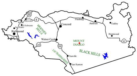 map of contra costa county ca california