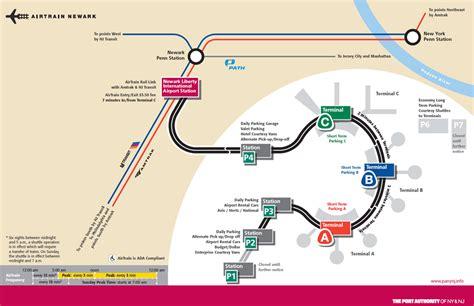ewr airport map map of newark newark maps mapsof net