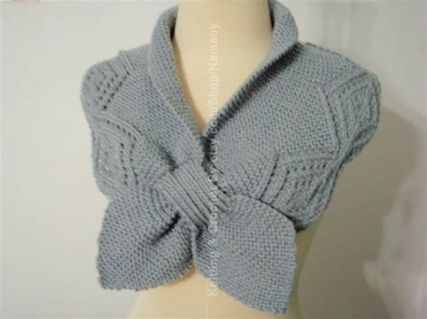 knitted neck warmer myknittingdaily knitting grey neck warmer
