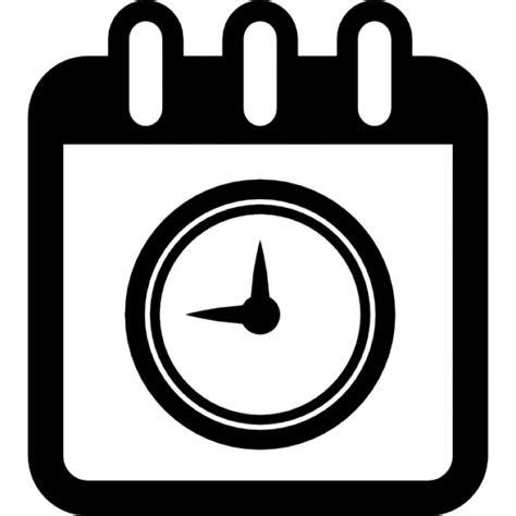 Calendario Circular Calendar Page With Circular Clock Symbol Icons Free