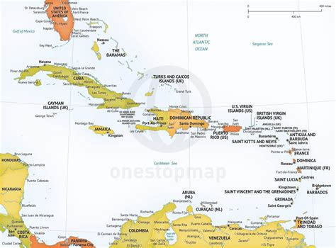 printable maps caribbean islands vector map of caribbean political one stop map