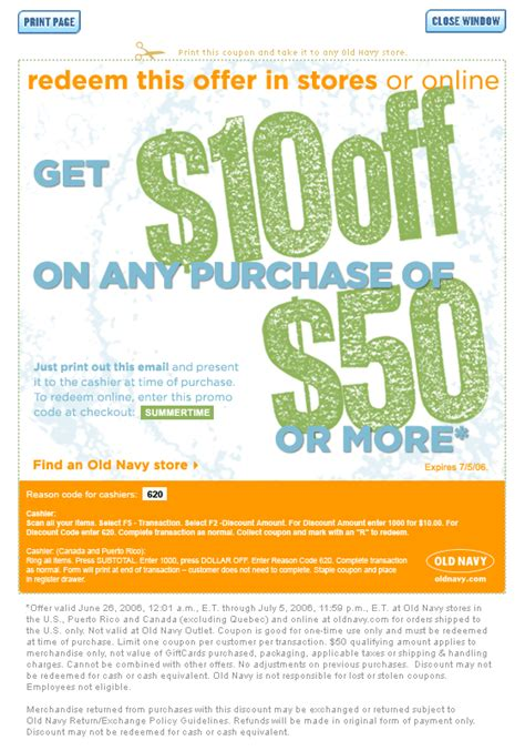 old navy coupons in store canada canadian coupons old navy store 10 off 50 canadian