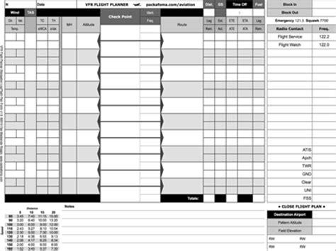vfr flight planner faa flight plan form free pdf