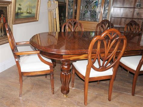 victorian style dining table set  hepplewhite chairs