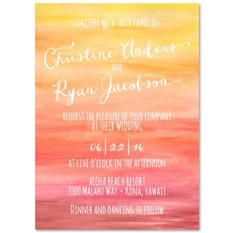sunset wedding invitations sunset by foreverfiances on 100 recycled paper