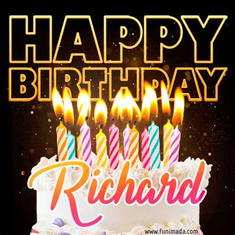 richard animated happy birthday cake gif  whatsapp   funimadacom