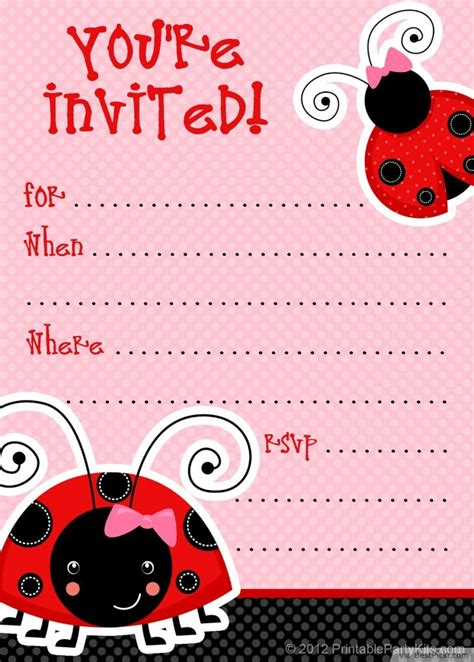 free printable birthday cards ladybugs 10 unique ladybug baby shower invitations your guests will