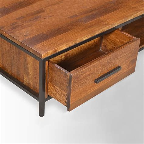 wood and metal coffee table metal wood coffee table elm