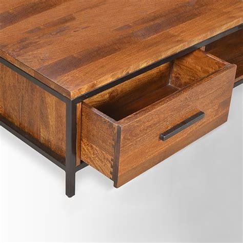 Metal And Wood Coffee Tables Metal Wood Coffee Table West Elm