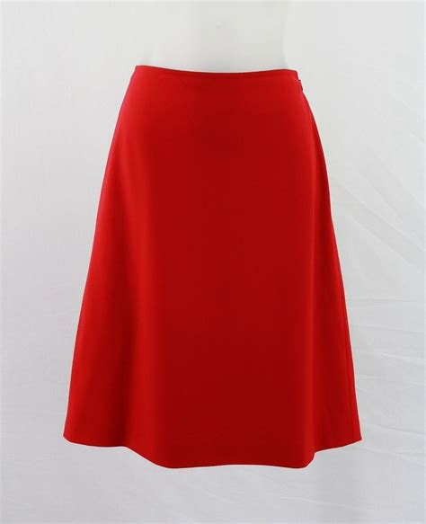 valentino spa wool blend lined a line skirt 8 ebay
