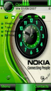 clock themes wap in download nokia clock nokia theme mobile toones