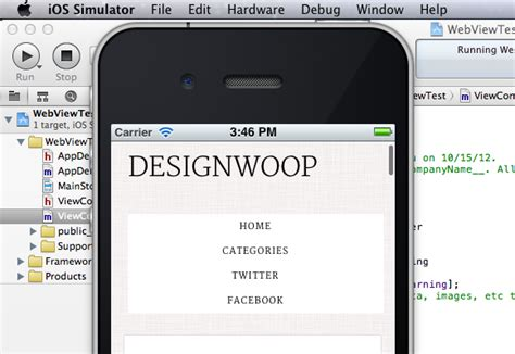 xcode uiwebview tutorial objective c iphone app uiwebview basics in xcode