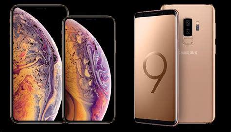apple vs samsung iphone xs max und galaxy s9 s9 im vergleich handy de