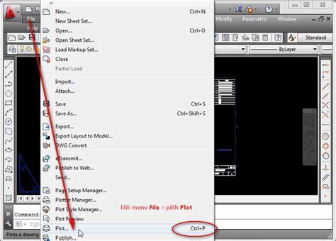 autocad tutorial how to print cara print gambar autocad dwg tutorial autocad x