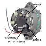wps alternator fits mercruiser 3 wire 12v one groove pulley