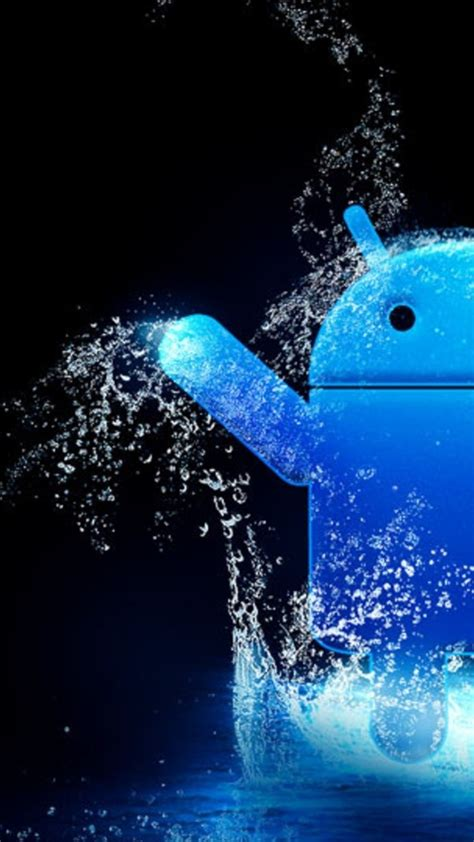 wallpaper for android water blue water android logo android wallpaper free download