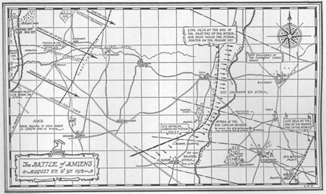 amiens map amiens 15th battalion cef
