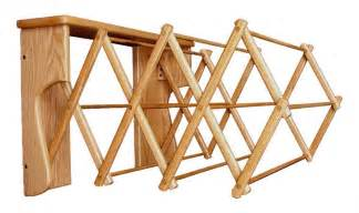 Wooden Clothes Dryer Amish Oak Wood Wall Drying Rack
