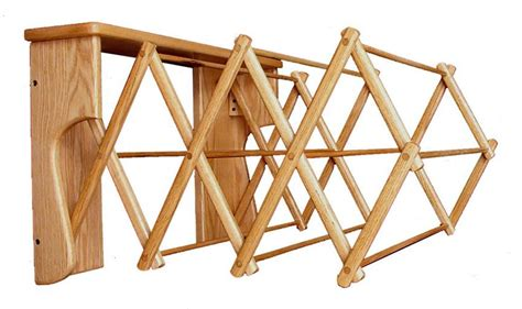 Amish Drying Rack by Amish Oak Wood Wall Drying Rack