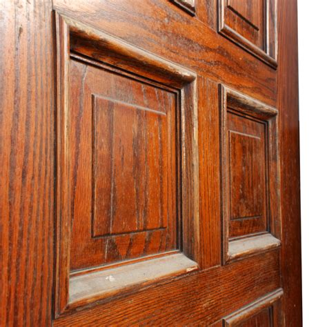 Reclaimed Wooden Doors For Sale by Handsome Antique 36 Solid Wood Door With Recessed Panels
