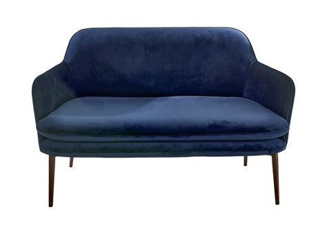 straight line sofa designs charmy straight sofa l 128 cm blue velvet by pols potten