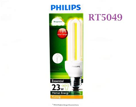 Lu Philips Essential 23w lu bohlam philips essential 23w e27 warm white rt5049