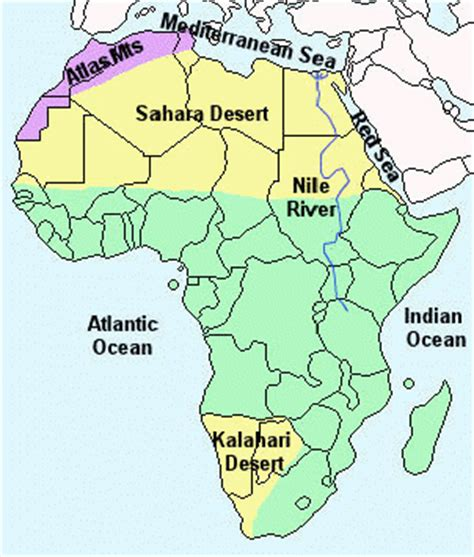 africa map divided into regions africa map divided into regions