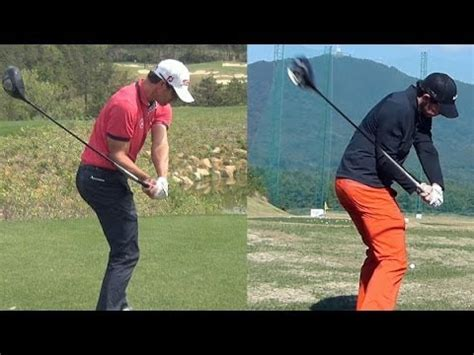 how to swing like adam scott 1080p hd rory mcilroy vs adam scott driver golf swing