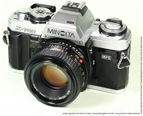 minolta camara minolta x 700 slr camera index page