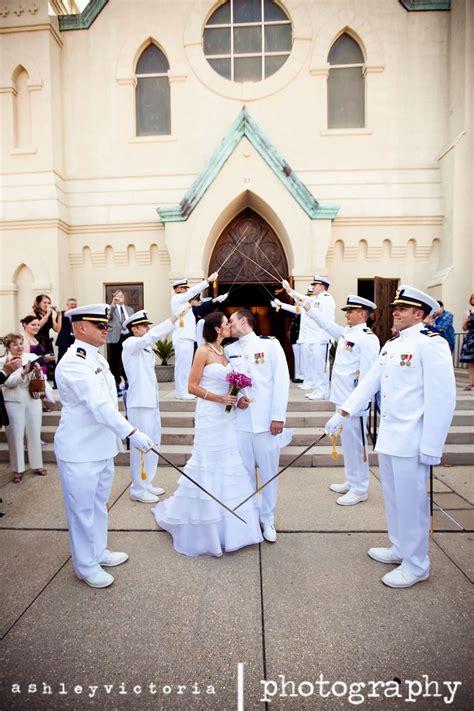 Wedding Arch Navy by Navy Wedding Sabre Arch Groom View