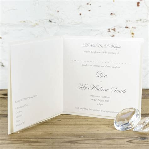 platinum wedding invitations platinum wedding invitation by dreams to reality design ltd notonthehighstreet
