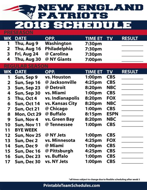 printable nfl season schedule image gallery nfl schedule printable
