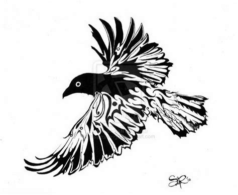 tribal crow tattoo design related keywords suggestions design