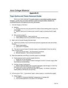 Coll148 Week 5 Outline by Com150 Week 6 Appendix D Topic Outline And Thesis Statement Guide Thesis Statement And