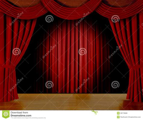 curtains on stage red curtain on stage stock photo image 28779580