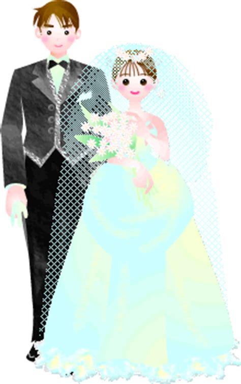 pengantin pria wanita gif gambar animasi animasi