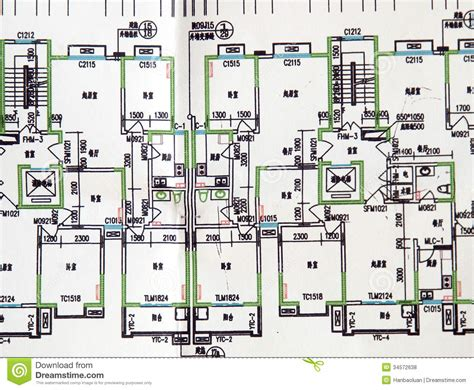 Housing Plane Drawings Royalty Free Stock Photos Image Architectural Plans Printers