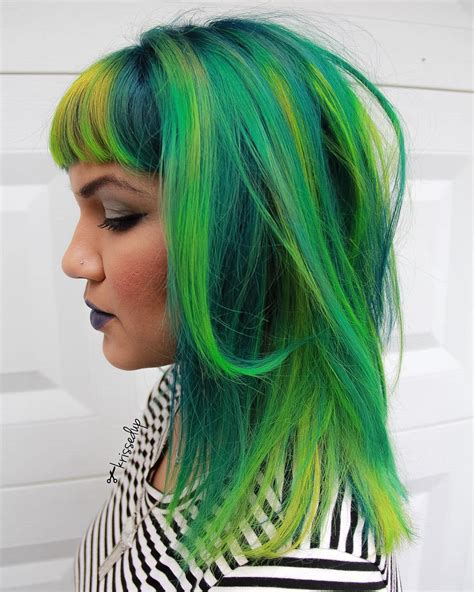 hairstyles with green highlights 20 ways to rock green hair