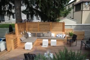 Backyard Terrace Urban Backyard Patio Amp Terrace In Hampstead Montreal