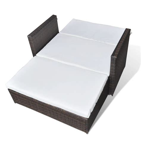 3 in 1 sofa vidaxl 3 in 1 sofabed set folding rattan sofa bed