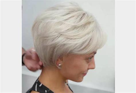 Coupe Courte Sur Cheveux Fins Bob Blond Blanc Pour Les