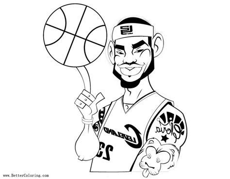 lebron coloring pages lebron coloring pages with basketball