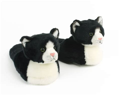 kid house shoes kids black and white kitty slippers kids cat slippers