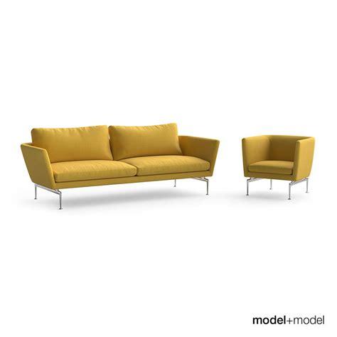 vitra suita sofa vitra suita sofa and armchair 3d model max obj fbx