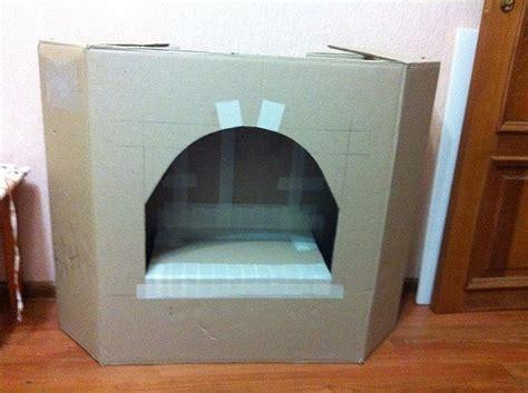 küche aus karton basteln kamin pappe design