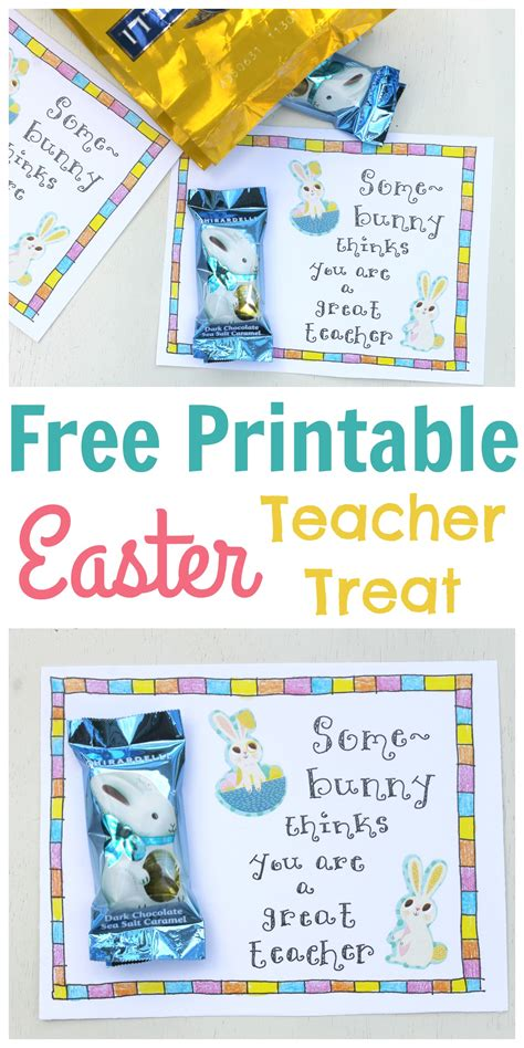 printable easter tags for teachers easter treat tag for teachers free printable happy