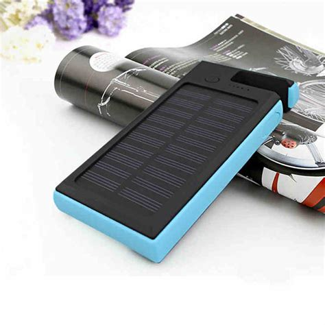 Power Bank Solar Cell 12000mah 12000mah dual usb solar power bank led battery charger for
