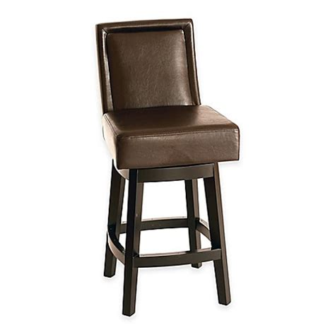 30 inch brown leather bar stools buy panama 30 inch swivel bonded leather barstool in brown