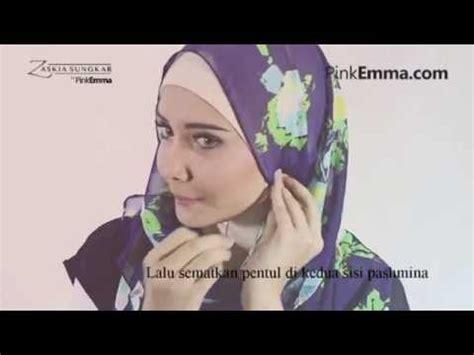 tutorial kerudung pashmina zaskia sungkar hijab