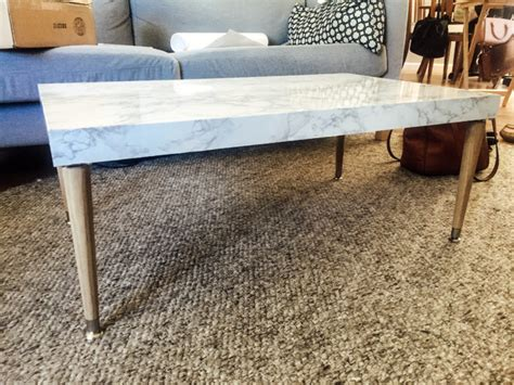 diy marble top coffee table change with us